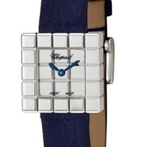 Chopard 127432 Ice Cube Ladies Quartz in White Gold - On Blue...