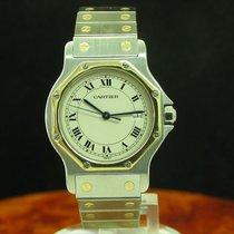 Cartier Santos Ronde 18kt 750 Gold / Edelstahl Damenuhr / Ref...