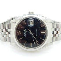 Rolex OysterDate Precision Steel 35mm Black Dial Date Swiss Watch