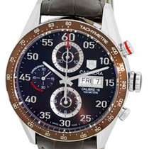 "TAG Heuer ""Carrera"" Automatic Chronograph Strapwatch."