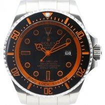 Rolex Deepsea 116660 Ceramic 44mm Custom Orange Stainless...