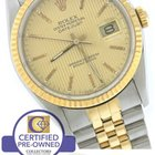 Rolex DateJust 36mm 16233 Two-Tone 18K Gold Stainless Tapestry