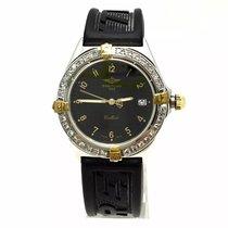 Breitling Callisto Ss & 18k Gold Mens Watch Diamonds 1ct+...
