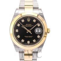 Rolex Datejust 41 Black 18k yellow gold/Steel Dia 41mm Oyster...