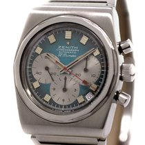 Zenith Vintage El Primero Chronograph Stainless Steel Bj-1975