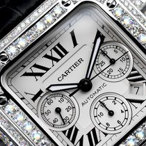 Cartier Diamond Cartier Santos 100 Xl Chronograph 17ct Natural...