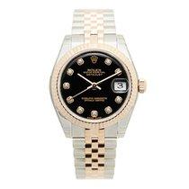Rolex Lady Datejust 18k Rose Magic Diamond Black Automatic...