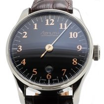 Azimuth Back In Time Piano Black Automatic Watch