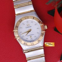 Omega Constellation Half-gold 22mm Ladies Mop Diamonds Dial...
