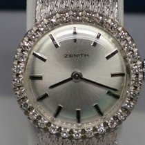 Zenith White Gold Rare Vintage Ladies Zenith
