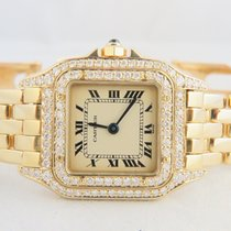 Cartier Panthere 18k Yellow Gold, Aftermarket Diamond Setting