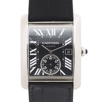 Cartier Tank Stainless Steel Black Automatic W5330004