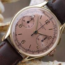 Chronographe Suisse Cie 18k Rose Gold Vintage Copper Faced...