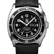 Luminox Mens P-38 Lightning Automatic - Stainless - Black Dial...