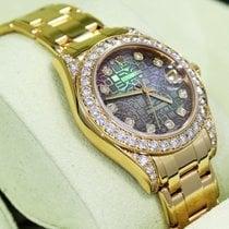 Rolex Masterpiece Pearlmaster 81158 Crown Collect 34mm 18k Y...