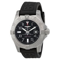 Breitling Avenger II Seawolf Automatic Black Dial Black Rubber...