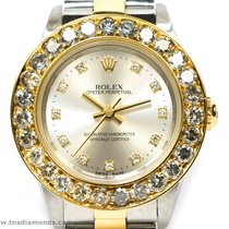 Rolex Ladies Rolex 76193 Original Diamond Dial Custom 3 Carat...