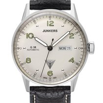 Junkers G38 6966-4 Day-Date Automatik silber schwarz 10 ATM 42 mm