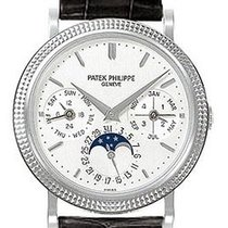 Patek Philippe Annual Calender Moonphase White Dial Black...