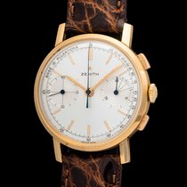 Zenith Vintage New old stock 18kt pink gold  145 chrono...