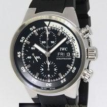 IWC Aquatimer Chronograph Day & Date Steel Black Dial Mens...