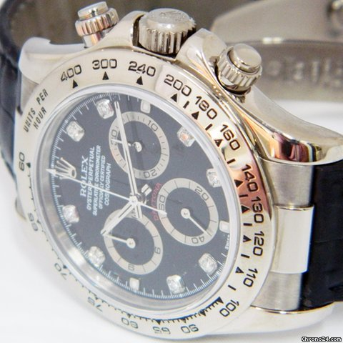 Rolex 18k White Gold Cosmograph Daytona ~ 116519