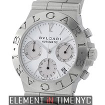 Bulgari Chronograph Stainless Steel White Dial 36mm Ref. CH 35 S