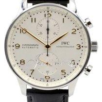 IWC Portuguese Automatic Chronograph IW371445 Men's Silver...