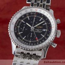 Breitling Navitimer World Chronograph Gmt Mit Stahlband A24322