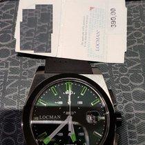 Locman STEALTH Quartz Chronograph  0202BKBKFGK1GOK Titanium  New