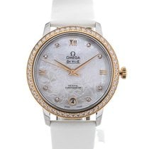 Omega De Ville Prestige Co-Axial 33 White Leather Strap
