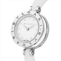 Bulgari B.zero1 White Lacquered Dial White Ceramic Bangle...