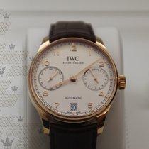 萬國 (IWC) IW500701 Portugieser White Dial 18 Carat Red Gold
