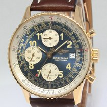 Breitling Old Navitimer Chronograph 18k Yellow Gold Mens...