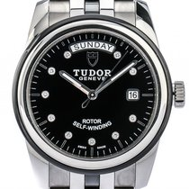 Tudor Glamour Day Date Stahl Keramik Automatik Diamond 39mm