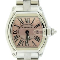 Cartier Roadster Pink Dial Stainless Steel