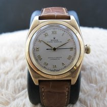Rolex BUBBLEBACK 3131 14K Pink Gold with Raised Roman Numerals