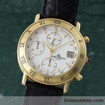 Baume & Mercier 18k Gold Baumatic Chronograph Herrenuhr 86104