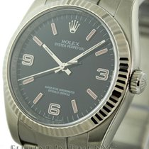 Rolex Oyster Perpetual 36mm No-Date Black Arabic Dial