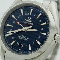 Omega Seamaster GMT Aqua Terra Co Axial wie neu Box + Papiere