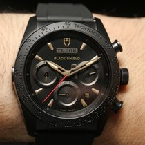 Tudor FASTRIDER BLACK SHIELD Keramik Chrono Gold Index 42000C N