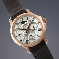Seiko Premier rose gold plated Kinetic Direct drive watch