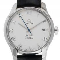 Omega De Ville Co-Axial Stahl Automatik Armband Leder 41mm...