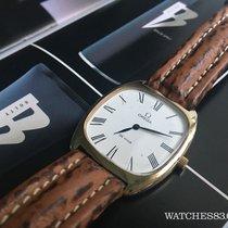 Omega Reloj Omega De Ville de cuerda cuadrado antiguo b/oro