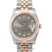 Rolex Datejust Gold/Steel Silver/18k rose gold Ø36 mm - 116231