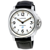 Panerai Luminor Base Logo Acciaio Mens Hand Wound Watch PAM00630
