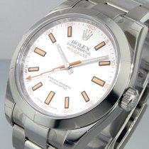Rolex Milgauss 116400 White Dial Steel Oyster Bracelet Smooth...
