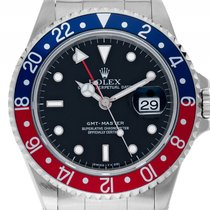 Rolex GMT Master rot blau Pepsi Stahl Automatik Armband Oyster...