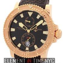 Ulysse Nardin Maxi Marine Diver Diver 18k Rose Gold Black Dial...