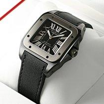 Cartier Santos 100 Chronograph Black Titanium Watch